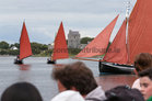 The view from Kinvara Pier as the traditional boats take part in the Cruinniu na mBad Festival at the weekend.
