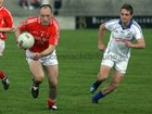 <br /> Kilkerrin-Clonberne's, Enda Daly,<br /> and<br /> Micheal Breathnach's, Fiach O Bearra,<br /> during the Senior Football Championship at Pearse Stadium.