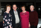 Mary and Gerry Loughnane, Helen and Enda Mullally, Clregalway,  at the Parkinsons Association  St. Patricks Night Ceili in the Clayton Hotel.