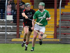 Tommie Larkins, David Hickey,<br /> and<br /> Moycullen's, Mark Lydon,<br /> during the Senior Hurling Championship at Athenry.