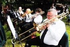 <br /> Playing the trumpet at the St. Nicholas Garden Fete at the Rectory Taylors Hill.