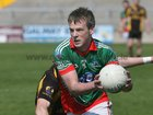 <br /> Kilconly's, John Kerrigan,<br /> during the Senior Football Championship at Pearse Stadium.