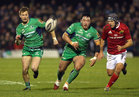 Connacht v Munster Guinness PRO12 game at the Sportsground.<br /> Connacht's Denis Buckley and Kieran Marmion
