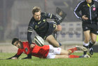 Connacht v Munster Guinness PRO14 game at the Sportsground.<br /> Connacht's John Porch and Munster's Conor Murray
