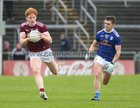 Galway v Cavan Allianz Football League division 1 game at the Pearse Stadium.<br /> Peter Cooke, Galway, and Barry Fortune, Cavan