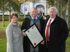 Connacht Tribune jornalist Stephen Glennon, who was conferred with a Masters of Arts in Writing at NUI Galway, pictured with his parents Mary and Sylvester.