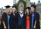 Colaiste Iognaid past pupils at NUI Galway this week where they were conferred with the degrees of Honours Bachelor of Medicine, Bachelor of Surgery and Bachelor of Obstetrics (MB BCh BAO). From left: Dr Ailbhe Murphy, Roscahill, and Doctors Aisling Dunne, Anthony Noone, Jessica Hannon and Aedín Hanahoe, all from Salthill.
