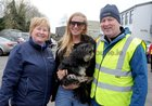 Breege Kelly, Lisa Regan, with her dog Toby and Ray Kelly,  taking part in the Menlo National School  walk in aid of Ability West.