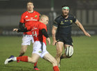 Connacht v Munster Guinness PRO14 game at the Sportsground.<br /> Connacht's Tom Daly and Munster's Keith Earls