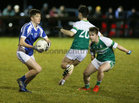 St Joseph's College v St Nathy's College, Connacht GAA Post Primary Senior B Football Final at the Connacht GAA Centre of Excellence, Bekan.<br /> Aaron Kavanagh, St Joseph's College, and Oisin Phillips, St Nathy's College