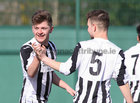 Loughrea v Galway Hibs at Bohermore.<br /> John Kennedy of Galway Hibernians, left, after scoring a goal