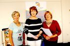 <br /> Committee members Rosemary Finlay, Anne Marie McGreevy, Jackie Keane, of the Active in Age Oranmore meeting in the Blue Room Respond , Ard na Mara, Oranmore.<br />