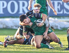 Connacht v Ospreys Guinness PRO14 game at the Sportsground.<br /> Connacht's Dave Heffernan tackled by Sam Parry, Ospreys