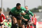 14-05-11:  Saturday.  Connacht's Mata Fafita in action against Munster in the Junior interprovincial competition played in the Sportsground on Saturday last.  Picture: William Geraghty