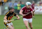 Galway v Kilkenny Under 20 Leinster Championship Hurling semi-final in Bord na Mona O'Connor Park, Tullamore.<br /> Galway's Conor Walsh and Kilkenny's Mikey Butler