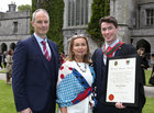Niall and Norma Hanley, Ballinderreen, with their son Dr Niall Hanley Jnr after he was conferred with the degrees of Honours Bachelor of Medicine, Bachelor of Surgery and Bachelor of Obstetrics (MB BCh BAO) at NUI Galway.