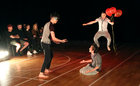 "Performers taking part in the Galway Community Circus production of ""The Circus Guide to Chaos Theory"" at St Joseph's Community Centre in Shantalla this week."