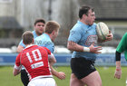 Galwegians v Cashel Ulster Bank All Ireland League Division 2A game at Crowley Park.<br /> Jason East, Galwegians