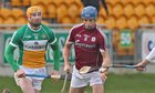 Galway v Offaly Allianz Hurling League Division 1B game at O'Connor Park, Tullamore.<br /> Galway's Johnny Coen and Offaly's Sean Gardiner