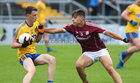 Galway v Roscommon Minor Football semi-final at the Pearse Stadium.<br /> Galway's Sean Fitzgerald and Roscommon's Gerry Galvin