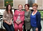Gina Mannion, Knocknacarra, Pearl Hession and her daughter Elaine, Renmore Park, and Colette Concannon, Racecourse Lawn, at the opening of artist Maurice Walsh's exhibition at the Town Hall Theatre.