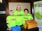 Rose Fitzpatrick, Mervue, Joe and Anne Byrne, Dunmore,  at the Parkinsons Association  St. Patricks Night Ceili in the Clayton Hotel.