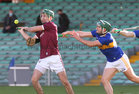 Galway v Tipperary All-Ireland Senior Championship Quarter-Final at the LIT Gaelic Grounds, Limerick.<br /> Galway's Brian Concannon and Tipperary's Cathal Barrett