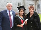 Christy and Mary Daly from Killimordaly with their daughter Kathy after she was conferred with the degree of B A, Honours, at NUI Galway.