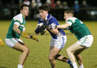St Joseph's College v St Nathy's College, Connacht GAA Post Primary Senior B Football Final at the Connacht GAA Centre of Excellence, Bekan.<br /> Tom O'Connor, St Joseph's College, and Daire Dowd and Jack McDonald, St Nathy's College<br /> <br /> 10 24 9