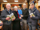 Padraic McCormack at the launch of his book 'Beneath the Silence' with his wife Eilish, their grandson Oisin and sons Michael and Patrick, in Charlie Byrne's Bookshop.