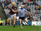 <br /> Galway's, Jonathan Glynn,<br /> and<br /> Dublin's, Colm Cronin,<br /> during the All-Ireland Minor Hurling Championship Final.<br />