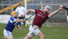 Galway v Laois 3rd round game in the Allianz National Hurling League at the Pearse Stadium.<br /> Galway's Jason Flynn and Dwane Palmer, Laois