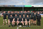 Connemara RFC v Creggs RFC Connacht Junior Cup final at the Sportsground.<br /> Connemara RFC. Back row, left to right: Eugene Conroy, Eoin Bourke, Marty Conneely, Conor O'Malley, Michael O'Toole, Ian Staunton, David McDonagh, TJ Berry, Shane Sweeney, Henry O'Toole and Henry O'Toole Snr, Head Coach. Front row, left to right: Emmet Ferron, Niall Staunton, Peter O'Toole, Captain, Paul Lee and Barry Gibbons.