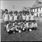 The Corrib Shamrocks, Galway, team who defeated Castlebar in the Connacht Club Under-13 soccer championship in Castlebar in June 1975. Front row (from left): Michael Higgins, Hugh Heskin, Ray Flaherty, Bill McGowan, Jim Laffey and Gerald Mullen. Standing: Padraic Fallon, Martin O'Neill, JJ Finn, Michael Heffernan, David Ward, Kieran Joyce and Paul Sheridan.