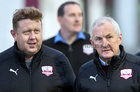 Galway United v Bray Wanderers SSE Airtricity League First Division game at Eamonn Deacy Park.<br /> Newly appointed Galway United Manager John Caulfield at the game <br />