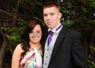Aghna Cooney and Diarmuid Feeney, both of Inverin, at the Colaiste Colm Cille Debs Ball in the Westwood House Hotel.