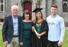 Kate Mulgannon from Renmore with her parents Denis and Angela and brother Dara after she was conferred with the degree of Honours Bachelor of Science (Occupational Therapy) at NUI Galway.