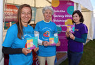 Pictured at the Galway 2020 Wave Makers display at the Galway International Food and Craft Festival in Salthill Park last weekend were Magda Dzikowska, Joan Kavanagh and Elena Toniato, Volunteer Programme Development Manager.