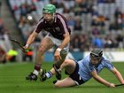 <br /> Galway's, Gerard O'Donoghue,<br /> and<br /> Dublin's, Sean McClelland,<br /> during the All-Ireland Minor Hurling Championship Final.<br />