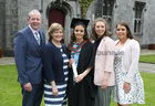 Siobhan Quirke from Ardrahan with her parents Martin and Helena and sisters Amy and Nicola after she was conferred with the degree of Honours Bachelor of Science (Occupational Therapy) at NUI Galway.