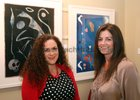 Tracy Kirby, Corrandulla, and Gina Mannion, Knocknacarra, at the opening of artist Maurice Walsh's exhibition at the Town Hall Theatre.