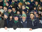 Connacht supporters in the Clan Stand at the Guinness PRO12 game against Munster at the Sportsground.