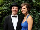 <br /> Padraic O Finneadha, Cloch Mor and Aoiofe Pierce, Loughrea, at the Colaiste Colm Cille Debs Ball in the Westwood House Hotel.