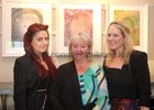 Geraldine Warren with her neices Laura and Rachel Walsh at the opening of artist Maurice Walsh's exhibition at the Town Hall Theatre.