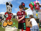 Aidan O'Donnell from Tiernascragh, Eyrecourt, enjoying the fun of the fair at the Galway International Food and Craft Festival in Salthill Park last weekend.