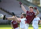 Galway v Cork Allianz Football League Division 2 Round 1 game at the Pearse Stadium.<br /> Galway's Michael Day and Cork's Ruairi Deane