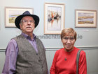 "Peter Greaney, Corrandulla, and Evelyn Horan, Renmore, at the opening of ""Buíochas-Gratitude"", Angeline Cooke's new exhibition of paintings, dedicated to all organ donors and inspired by the Circle of Life National Organ Donor Commemorative Garden in Salthill and, at Renzo Café, Eyre Street. Proceeds from the sale of paintings will go to Strange Boat Donor Foundation. <br />"