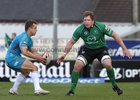 Connacht v Aironi RaboDirect PRO12 game at the Sportsground.<br /> Connacht's Michael Swift and Aironi's Tyson Keats