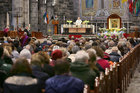 Neil Foley speaking during the the annual Solemn Novena at Galway Cathedral this week. Neil is involved in several prayer and music ministries, has a certificate in pastoral theology and works as an environmental scientist.