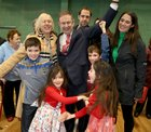 Galway West Fianna Fail candidate Eamon Ó Cuiv celebrates after his election with his wife Aine, their children Eamon Óg and Eimear, and grandchildren Aine, Mairead Eamon and Sean.Galway West Fianna Fail candidate Eamon O Cuiv celebrates after his election with his wife Aine, their children Eamon Og and Eimear, and grandchildren Eamon, Sean, aine and Mairead. Photograph: Joe Shaughnessy. 10/2/2020